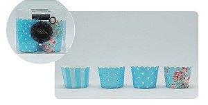 Kit Mix Copinho Forneável Cupcake- Azul
