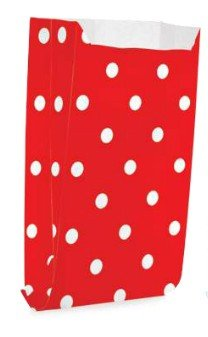 Saquinho Decorado Dots - Vermelho  (10 unidades)