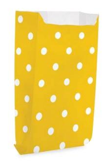 Saquinho Decorado Dots  Amarelo  (10 unidades)