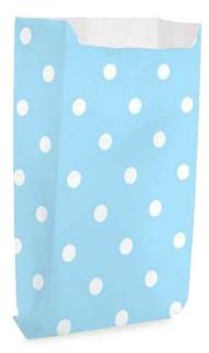 Saquinho Decorado Dots  Azul Bebê  (10 unidades)