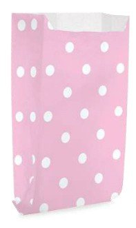 Saquinho Decorado Dots - Rosa Bebê  (10 unidades)