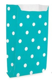 Saquinho Decorado Dots - Turquesa  (10 unidades)