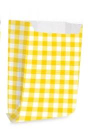 Saquinho Decorado Xadrez -Amarelo