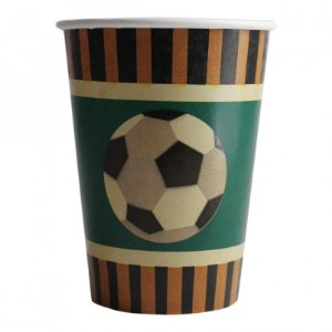 Copo De Papel - Bola De Futebol - 240ml  (8 unidades)