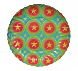 Prato De Papel - 18cm - Estrelas