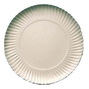 Prato De Papel - Branco - 18cm