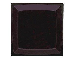 Prato 23,5cm Refeição Quadrado Preto (12 unidades)