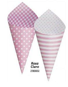 Cone Decorativo Para Festa- Rosa Claro