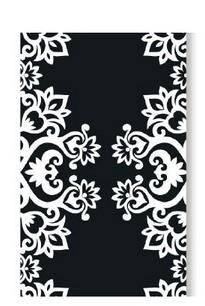 Cinta  Para Doces Lace Preto/ Branco (24 unidades)