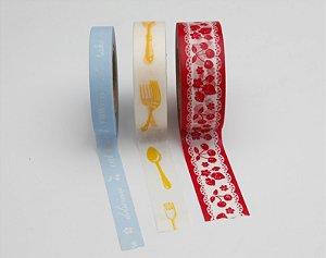 Washi Tape - Kitchen Vermelho