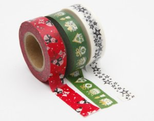 Washi Tape  - Merry Christmas Red