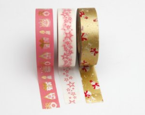 Washi Tape  - Merry Christmas Rosa
