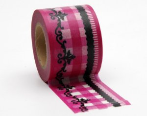 Washi Tape Barrado Chique - Pink