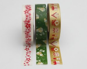 Washi Tape  - Merry Christmas Green
