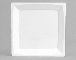Prato Milan Branco Quadrado 23,5cm