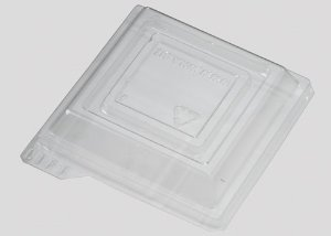 Tampa Transparente Para Mini Pote Quadrado 104ml
