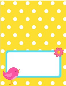 Place Card - Dots Bird