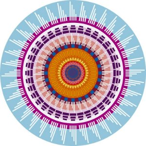 Sousplat De Papel  Mandala Turquesa