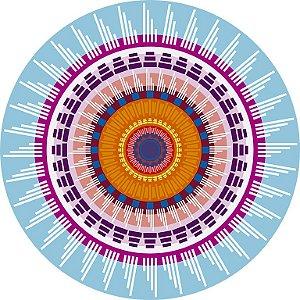 Sousplat De Papel  Mandala Turquesa (6 unidades)