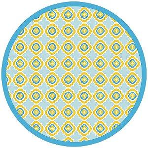 Jogo americano redondo De Papel Turquoise (12 unidades) PROMOÇÃO