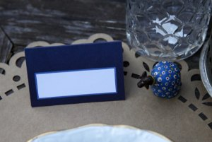 Place Card - Navy (6 unidades)
