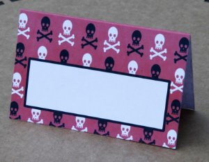 Place Card - Skull (6 unidades)