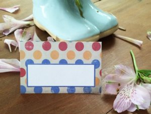 Place Card - Color_dots (6 unidades)
