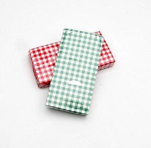 Lenço De Papel -xadrez Verde