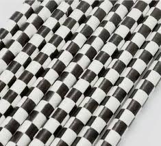 Canudo Papel Quadriculado Preto