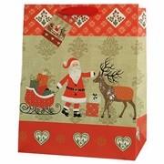 Sacola Natalina Papai Noel/Rena (1 sacola)