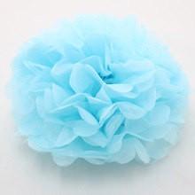 Pompom de Papel 30cm - Azul bebe