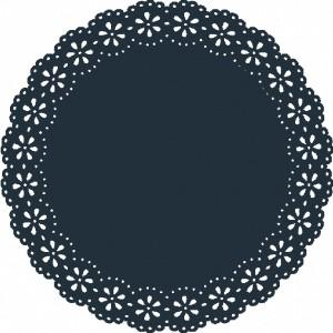 Sousplat - Blossom Navy