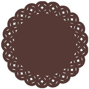 Sousplat - Tiles Marrom
