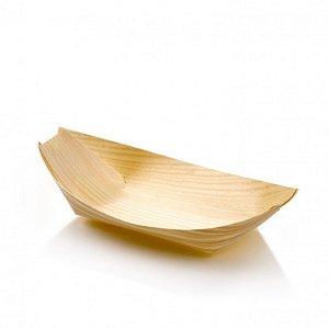 Barco Em Lâmina De Madeira 11,5cm
