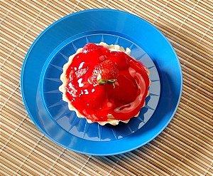 Prato Sobremesa Redondo - 15cm - Várias Cores!
