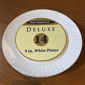 Prato 23cm Branco (14 unidades)