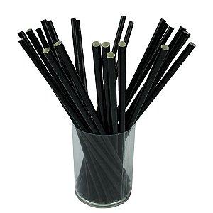 Canudo de Papel Preto MILKSHAKE- Biodegradável - (200 unidades) (Promoção)