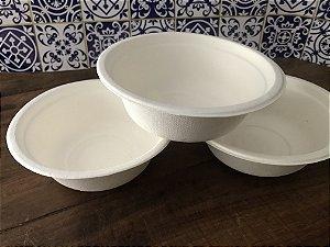 Bowl 400ml -  Bagaço de cana (Pacote com 50 unidades) LANÇAMENTO