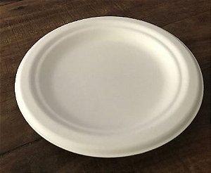Prato Redondo 15cm  - Bagaço de cana (Pacote com 125 unidades) LANÇAMENTO
