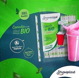 Canudo MilkShake Biodegradável - (100 unidades) (Promoção)