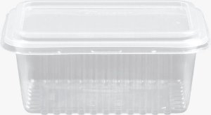KIT MARMITA RETANGULAR -CRISTALMAXI 500ML -(Caixa 150 uni)