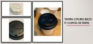 Tampa Bico P/ Copo De Papel 120ml -Varias cores (1000 unidades)