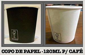 Copo De Papel 120ml - Varias cores (Pacote c/ 50 uni)