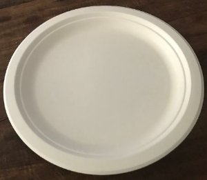 Prato 23cm Refeição- Bagaço de cana- Caixas ou pacotes