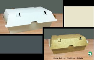 Caixa Delivery Colada - Caixa 200 uni