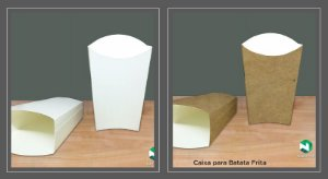 Caixa Delivery Batata Frita -Caixa 500 unidades