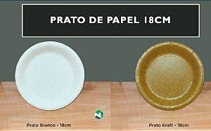 Prato de papel 18cm - Caixa 1000 unidades
