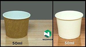 Copo Polipapel 50ml  -Kraft ou Branco - Lançamento