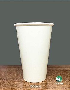 Copo Polipapel 500ml  -Kraft ou Branco - Lançamento