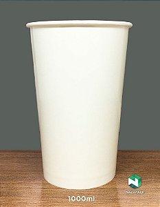 Copo Polipapel 1000ml  -Kraft ou Branco - Lançamento